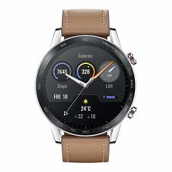 Honor Magic Watch 2 Smart Watch 1.39 Amoled Display Bluetooth Call Activity Tracker 5ATM Waterproof 14DAYS Battery Life Sport Smartwatch With MIC For Women Men Flax Brown