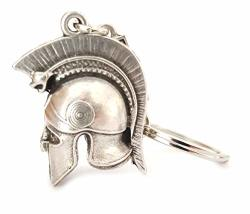 Iconsgr Key Ring Ancient Spartan Soldier Battle Helmet Baring A Snake Keychain 2