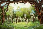 Leyiyi 10X6.5FT Photography Backdrop Wedding Arch Door Background Wonderland Flora Greenery Meadow Sky Cloud Heaven Enchanted Fo