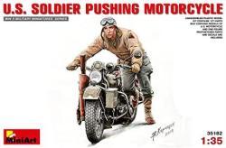 Miniart 1:35 - Us Soldierpushing Motorcycle
