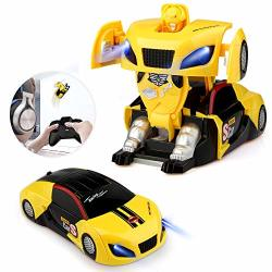 Baztoy Transform Toy Remote Control Car Wall Climbing For Boys Girls Age Of 3 4 5 6 7 8-16 Year Old Gifts One-button Deformation