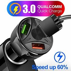 Eubell Quick Charge 3.0 Car Charger 3 USB Ports Charging Adapter For Smartphone And More