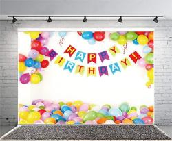 Yeele 10X6.5FT Happy Birthday Backdrop Vinyl Celebrate Birthday Party Banner Card Background For Photography Baby Infant Newborn Child Girl Artistic P