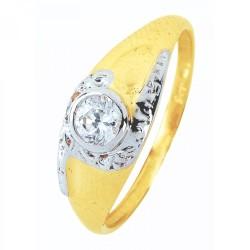 9CT GOLD Cubic Zirconia Tube Set Dress Ring