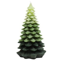Tag Christmas Evergreen Tree Large Candle