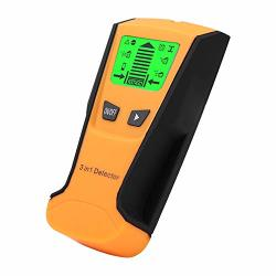 Galapara Metal Detector Stud Finder 3 In 1 Find Metal Wood Studs Live Wire Detect Wall Scanner Electric Box Finder Wall Detector Yellow Black
