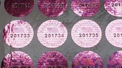Purple Color 14 Mm 0.53 Inch Round With Serial Number Hologram Labels Tamper Evident Stickers Security Void Seals Labels - Dealimax Brand 500