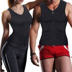 Men's Waist Trainer Vest For Weight Loss Hot Thermo Body Shaper Tank Top Zipper