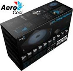 Aerocool Project 7 Rgb Ready 750W 80 Plus Platinum Certified Modular Power Supply- Super Quiet- 14CM Fan With Fdb Fluid Dynamic