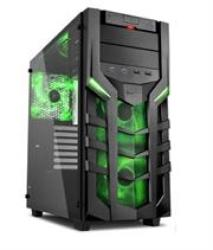 Sharkoon DG7000-G Atx Gaming Case With Extra-large Tempered Glass Side Panel - 2X 5.25 Inch Drive Bays With Tool-free Installati