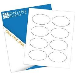 """Online Labels - 3.33"""" X 2"""" Oval Labels - Pack Of 800 Labels 100 Sheets - Inkjet laser Printer"""