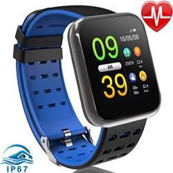 Fitness Tracker Smart Watch Waterproof Fitness Activity Tracker With Heart Rate Monitor Smart Wristband Pedometet Watch For Women Man Sport Running Sm