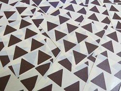 """Minilabel 25MM 1"""" Triangle Shape Color Code Stickers - Packs Of 96 Large Colored Triangular Sticky Labels - 32 Colors Available Dark Brown"""