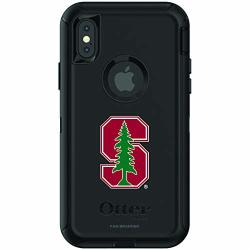 Fan Brander Ncaa Black Phone Case With School Logo Compatible With Apple Iphone Xr And With Otterbox Defender Series Stanford Cardinal