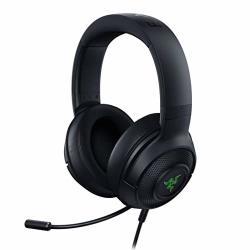 Kraken Razer X USB Ultralight Gaming Headset: 7.1 Surround Sound - Lightweight Frame - Green Logo Lighting - Integrated Audio Controls - Bendable Cardioid