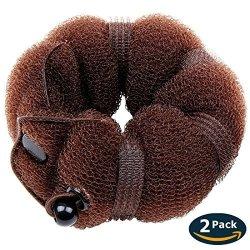 Goldrose Beauty Buns 2 Pieces Magic Hair Styling Styler Twist Ring Former Shaper Doughnut Donut Chignon Bun Maker Clip Hair Curl R675 00