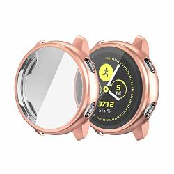 Betteck Compatible For Samsung Galaxy Watch Active Case All Around Ultra-thin Soft Tpu Touch Screen Protector Bumper Cover Scratch-resist Case For Samsung Galaxy Watch