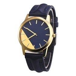 WATCH Nadition Clearance ? Fashion Man Crystal Stainless Steel Analog Quartz Wrist Dark Blue