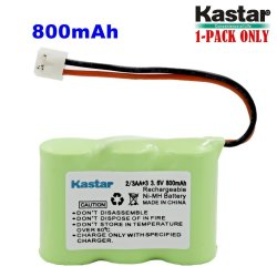 Kastar 1-PACK 2 3AA 3.6V 800MAH Eh Ni-mh Rechargeable Battery For At&t 2422 80-5074-00-00 Lucent 2422 Vtech IA5870 IA5882 Sanik 3SN-2 3AA30-S-J1 Cordl
