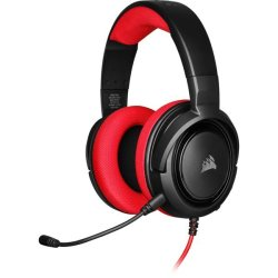 Corsair - HS35 Stereo Gaming Headset - Red Pc gaming