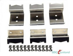 BBQ Funland B5050 Include Screws Stainless Steel Heat Plate Brackets Burner Hanger Brackets Replacement For Chargriller 5050 Duo