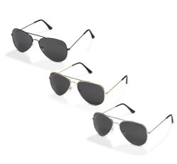 Miami Aviator Sunglasses 3 Pack Assorted Colours