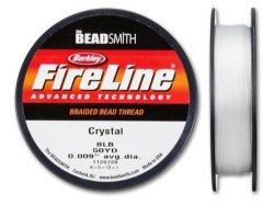 Beadsmith Fireline - Braided Bead Thread - Crystal - 50 Yards 8LB Test