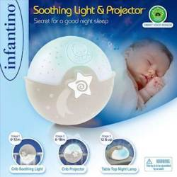 Infantino Wom Soothing Light & Projector Ecru