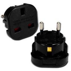 UK To Euro Plug Adaptor - Black