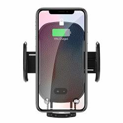 Ywillink Car Phone Holder Smart Ir Sensor Wireless Charger Phone Bracket For Car