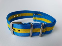 NATO 18MM Watch Strap Light Blue yellow