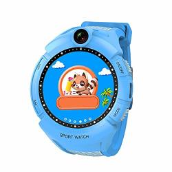 Kids Smartwatch Phone Watch For Android Iphones Camera Smartwatch Touch Screen Cellphone Watch Gps Tracker Anti-lost Sos Multifunctional Digital Sport Smart Watch Perdometer Blue
