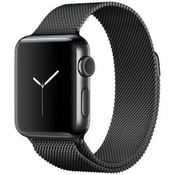 Kotec O Milanese Loop Strap For Apple Watch 42MM - Space Black