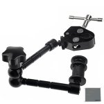 "Fomito 11"" Inch Articulating Magic Arm + Super Clamp For Camera Lcd Monitor LED Video Light"