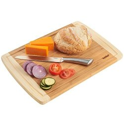 VonShef Large Bamboo Wooden Cutting Chopping Board 18 X 14 Inches Approx.
