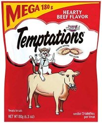 Whiskas Temptations Classic Treats For Cats Hearty Beef Flavor 6.3 Ounces Pack Of 10 By Temptations