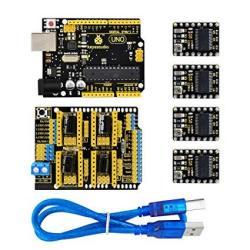 Keyestudio Cnc Diy Kit For Arduino Uno R3+GRBL Cnc Shield V3+4PCS DRV8825  Stepper Motor Driver+usb Cable Arduino Cnc Kit For Diy 3D Printer Router |  R