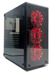 Redragon Diamond Storm Eatx Mid-tower Tempered Glass Rgb Gaming Chassis - Black