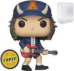 Funko Rocks: Ac dc Angus Young Limited Edition Chase Pop Vinyl Figure Includes Compatible Pop Box Protector Case