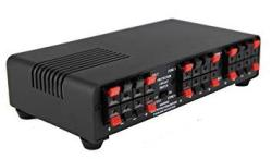 Melody Tm 4 Channel Speaker Selector Multi-zone Audio Home Surround Sound Control With Impedance Protection