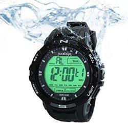 Tekmagic 10 Atm Digital Submersible Diving Watch 100M Water Resistant Swimming Sport Wristwatch Luminous Lcd Screen With Stopwat