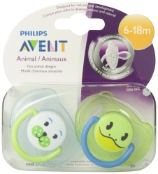 Philips Avent Soother 6-18m Animal - Bpa Free Twin Pack