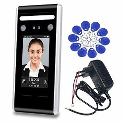 Libo Dynamic Facial Access Control Time And Attendance Machine Biometric Infrared Face Recognition Time Clock Tcp ip Network USB Download upload With 125KHZ 13.56MHZ Rfid Key Fobs