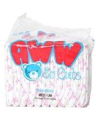 Pink Abdl Teddy Bear Adult Diapers Medium