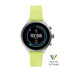 Fossil Women's Gen 4 Sport Heart Rate Metal And Silicone Touchscreen Smartwatch Color: Neon Green FTW6028