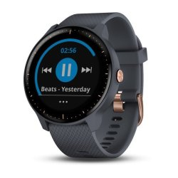 Garmin Vivoactive 3 Music Granite Blue with Rose Gold Hardware