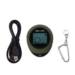 Dilwe MINI Gps Navigation Handheld Portable Gps Navigation Location Finder Tracker With Kay Chain For Hiking Traveling
