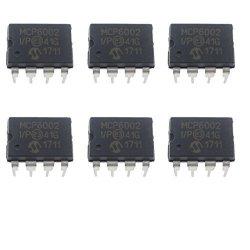 Jekewin MCP6002-I P DIP-8 1 Mhz Gain Bandwidth Product Low-power Op Amp Pack Of 6 Pcs