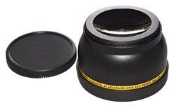 Metal 58mm Lens Hood for Canon Sony Olympus Fuji Nikon Leica Leitz Panasonic Pentax Lens Yisau Telephoto Lens Hood Shade Telephoto Metal 58mm Screw-in Lens Hood