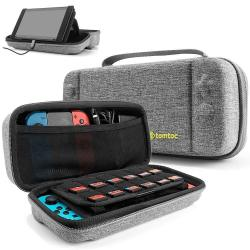 Tomtoc Hard Storage Case Compatible With Nintendo Switch Original Protective Hardshell Travel Handle Case Carrying Bag Cover Fit Nintendo Switch Cons